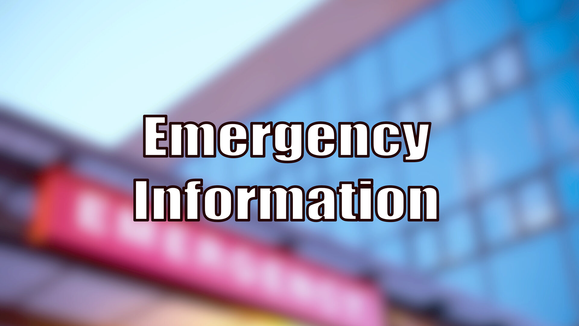 Go to Emergency Information