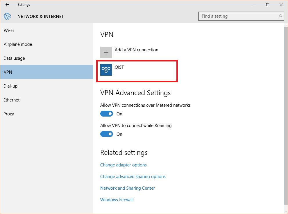 Capsule VPN for Windows 10 | OIST Groups