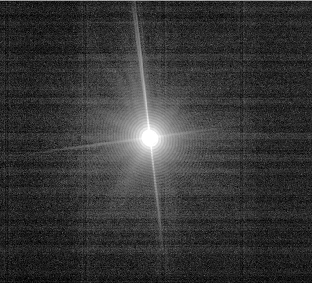 Fig. 3 Diffraction image from our test target taken F816 CMOS detector.