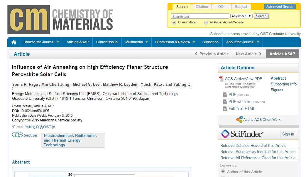 perovskite-based solar cells pdf