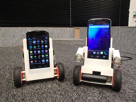 Smartphone mobile robots (2014)