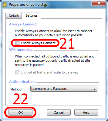 EndPoint VPN Software installation for Windows | OIST Groups